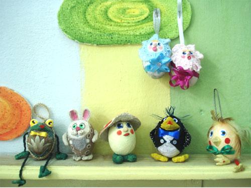 Игрушки своими руками с яйца фото