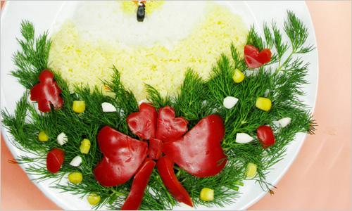 украсить салаты фото на новый год 2013